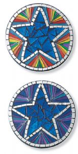 Coasters~Star Design Mosaic Coasters-10cm~Fair Trade by Folio Gothic Hippy MC12